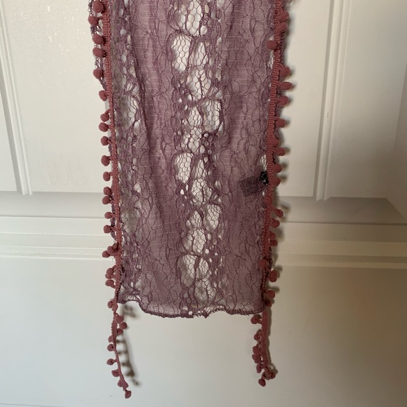 Delicate lacy scarve